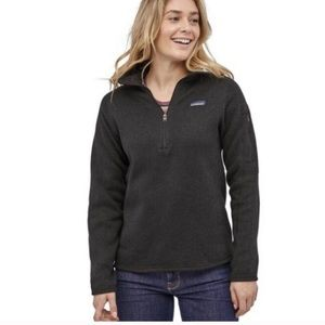 Patagonia charcoal better sweater quarter zip